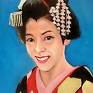 the most famous maiko in Kyoto, Anna 安奈 by Hidemi Tada