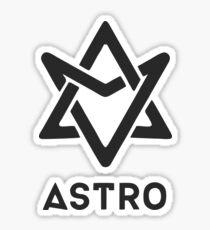 Pegatina logo astro negro