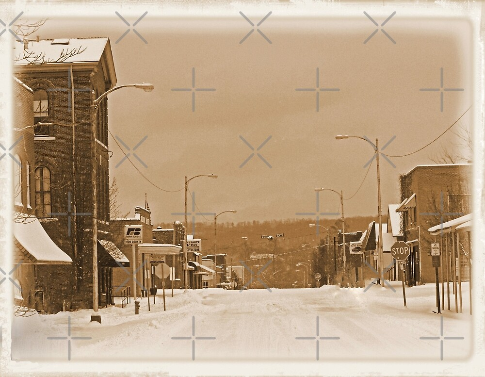 Old Main Street in the Snow by FrankieCat