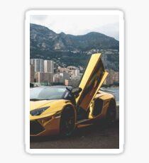Gold Lamborghini Sticker