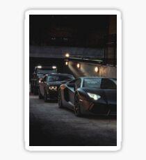 Black squad cars Sticker