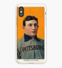 Honus Wagner Baseball Rookie Card iPhone Case/Skin