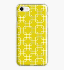 Yellow retro network squares iPhone Case/Skin