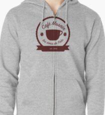 Cafe Musain - Maroon Zipped Hoodie