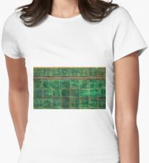 Old Green Tiles Women's Fitted T-Shirt