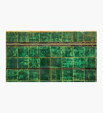 Old Green Tiles Photographic Print