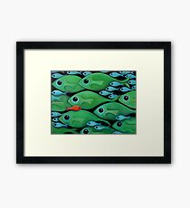 Green Fish 1 Framed Print