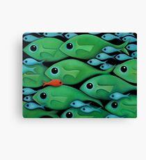Green Fish 1 Canvas Print