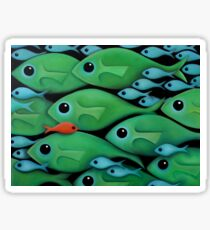 Green Fish 1 Sticker