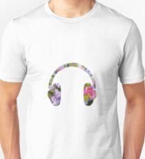 Floral Headphones Silhouette T-Shirt