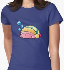 Sleeping Kirby Women's Fitted T-Shirt