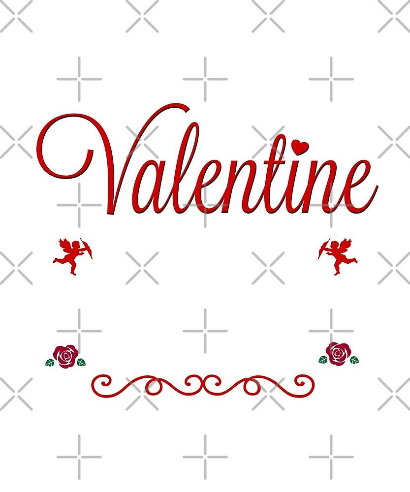 I Don't Need A Valentine Teacher Gift Rose Heart  by JapaneseInkArt