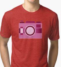 Retro Old-Time Camera, Pink Tri-blend T-Shirt