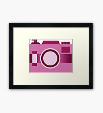 Retro Old-Time Camera, Pink Framed Print