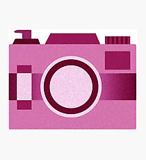 Retro Old-Time Camera, Pink Photographic Print