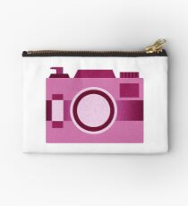 Retro Old-Time Camera, Pink Studio Pouch