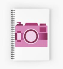 Retro Old-Time Camera, Pink Spiral Notebook