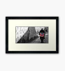Red Ducati  Framed Print