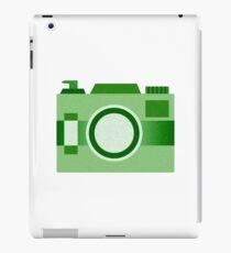 Retro Old-Time Camera, Green iPad Case/Skin