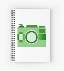 Retro Old-Time Camera, Green Spiral Notebook