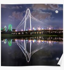 Margaret Hunt Hill Bridge Supermoon Poster