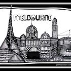 Melbourne in tangles  by Jenny Wood