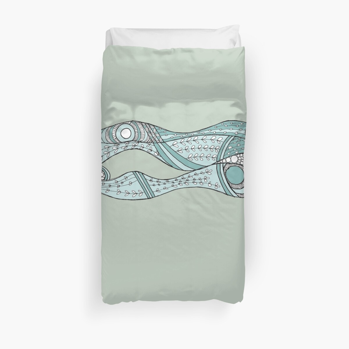 Sea Weeds, soft teal by wiccked