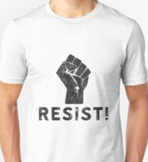 Resist Fist with Exclamation Point T-Shirt