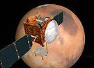 Mars Telecommunications Orbiter im Flug um den Mars. von StocktrekImages