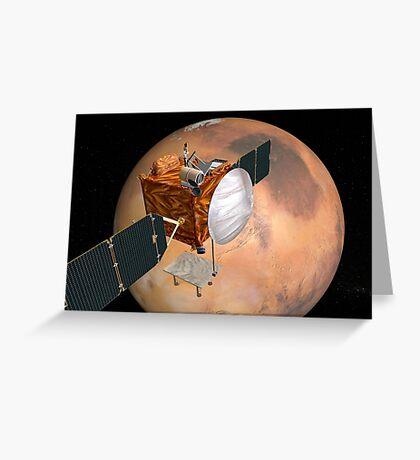 Mars Telecommunications Orbiter im Flug um den Mars. Grußkarte