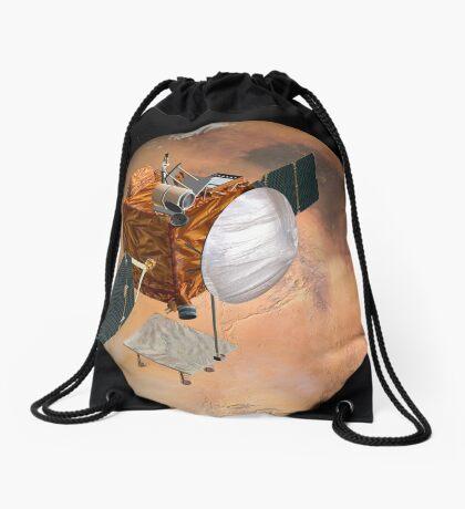 Mars Telecommunications Orbiter im Flug um den Mars. Turnbeutel
