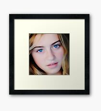 Blue Eyed Girl - Photographic Painting Framed Print