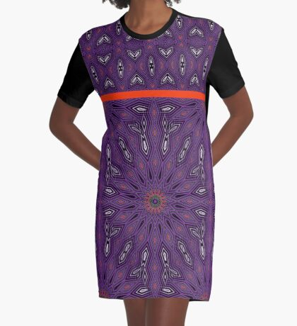 Purple and Orange It Graphic T-Shirt Dress