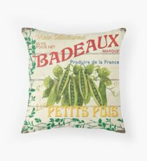 French Veggie Label 1 Throw Pillow
