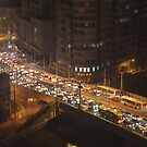 Traffic on Bridge - tilt shift by happiyi