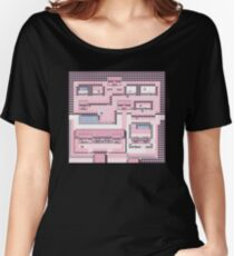 PkMn - Fuchsia City Full Graphic Tee Women's Relaxed Fit T-Shirt