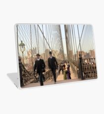 Brooklyn Bridge, New York, 1905 — Colorized Laptop Skin