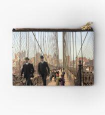 Brooklyn Bridge, New York, 1905 — Colorized Studio Pouch