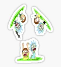 Teleport Rick And Morty Sticker
