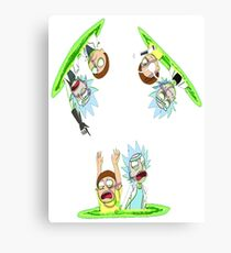 Teleport Rick And Morty Canvas Print