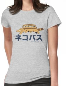 Nekobus retro Womens Fitted T-Shirt