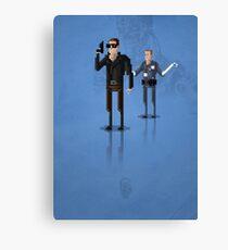 8-Bit TV Terminator Canvas Print