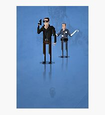 8-Bit TV Terminator Photographic Print