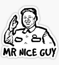 Dictator Mr. nice guy Satire Sticker