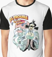Big Trouble In Little China & Lo Pan HD White Graphic T-Shirt