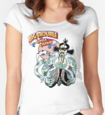 Big Trouble In Little China & Lo Pan HD White Women's Fitted Scoop T-Shirt