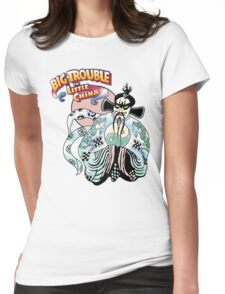 Big Trouble In Little China & Lo Pan HD White Womens Fitted T-Shirt