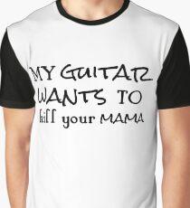 rock n roll guitarist guitar cool typography rocker hippie t shirts Graphic T-Shirt
