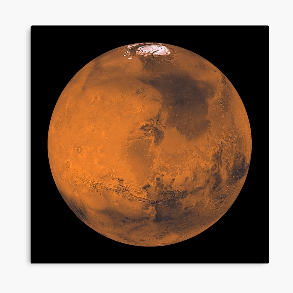 Globale Farbansicht des Mars. Leinwanddruck