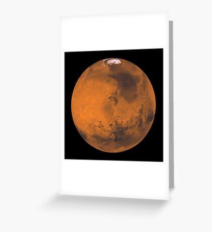 Globale Farbansicht des Mars. Grußkarte